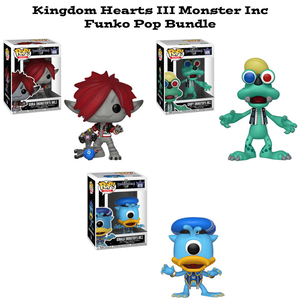 Kingdom Hearts III Monster's Inc Funko Pop Games Disney Bundle