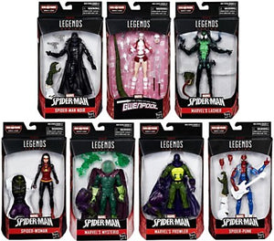 Amazing Spider-Man Marvel Legends Lizard Build-A-Figure Set of 7