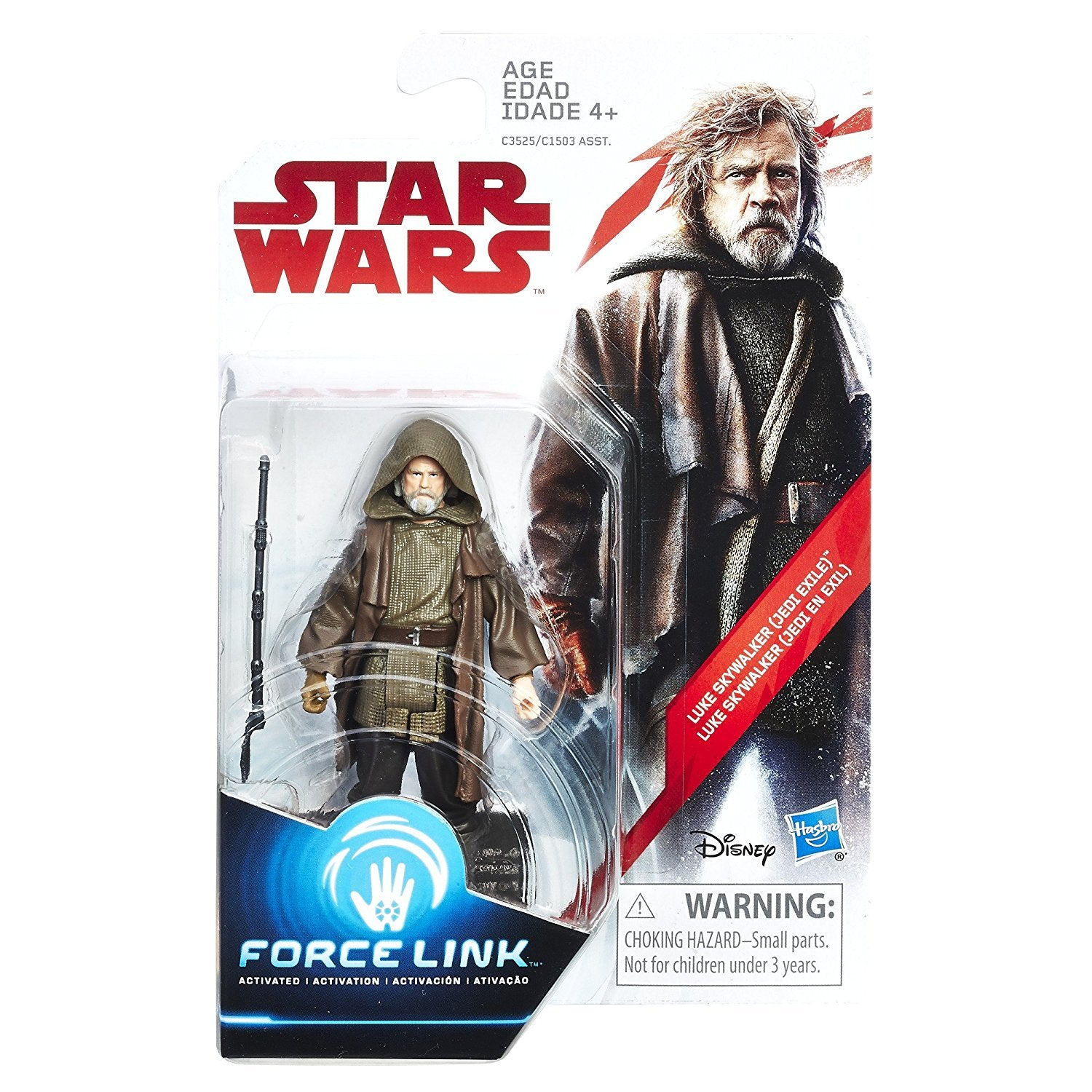 Luke Skywalker Jedi Exile Star Wars The Last Jedi 3.75 Inch Figure