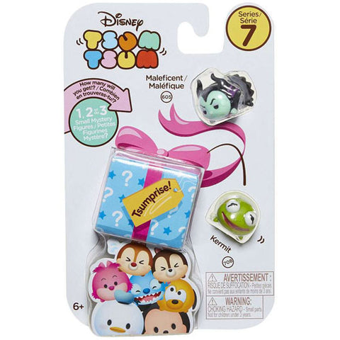 Maleficent and Kermit Disney Tsum Tsum Series 7 Tsumprise 3-Pack