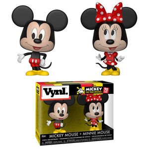 Mickey Mouse and Minnie Mouse Funko VYNL