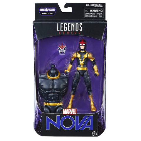 Nova Guardians Of The Galaxy Marvel Legends 6-Inch Action Figure Titus Build-A-Figure Wave