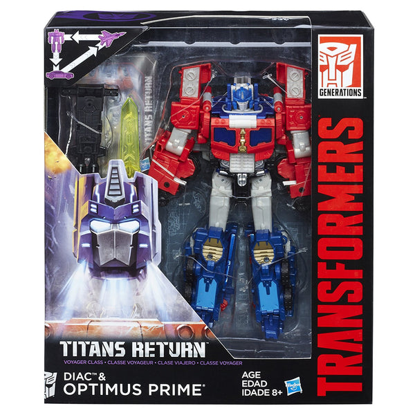 Optimus Prime & Diac Transformers Generations Titans Return Voyager Class