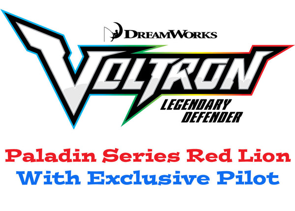 Paladin Series Red Lion with Pilot Voltron The Legendary Defender
