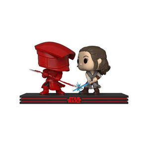Rey and Praetorian Star Wars The Last Jedi Funko Pop! Movie Moments