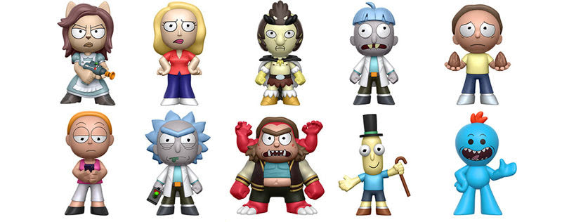Rick and Morty Series 1 Funko Mystery Minis Main Set