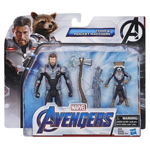 Thor and Rocket Raccoon Avengers Endgame Action Figure 2-Pack