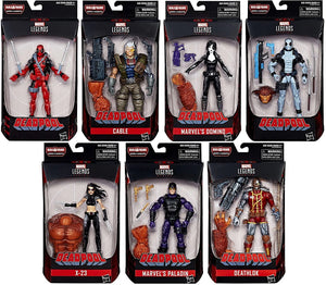 Deadpool Marvel Legends Sasquatch Build-A-Figure Set of 7