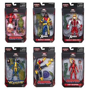 Deadpool Marvel Legends Sauron Build-A-Figure Set of 6