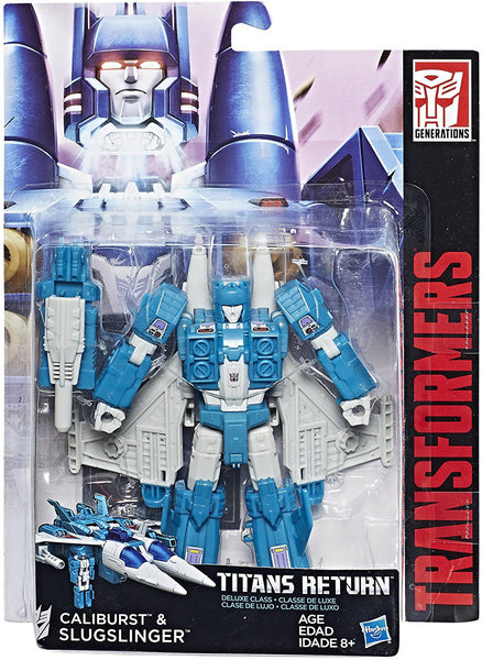 Slugslinger & Caliburst Transformers Generations Titans Return Deluxe Class