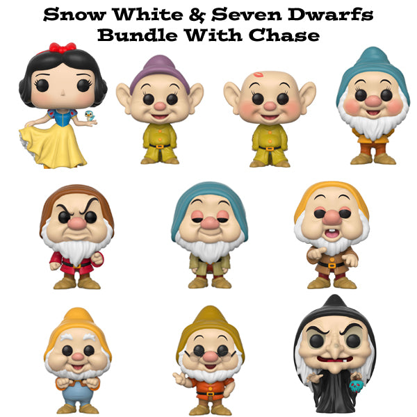 Snow White and the Seven Dwarfs Funko Pop! Disney Bundle with Chase