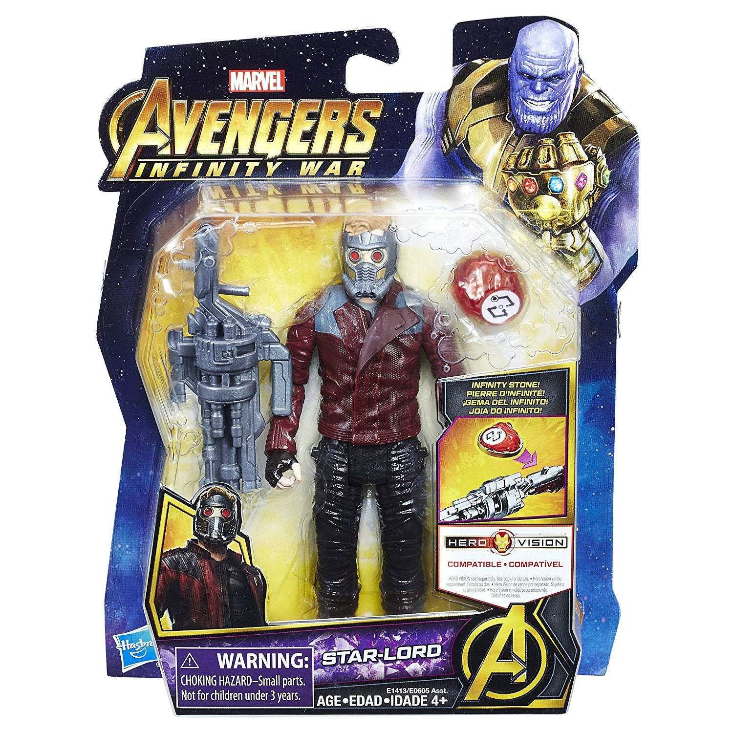 Star-Lord with Infinity Stone Marvel Avengers Infinity War Action Figure