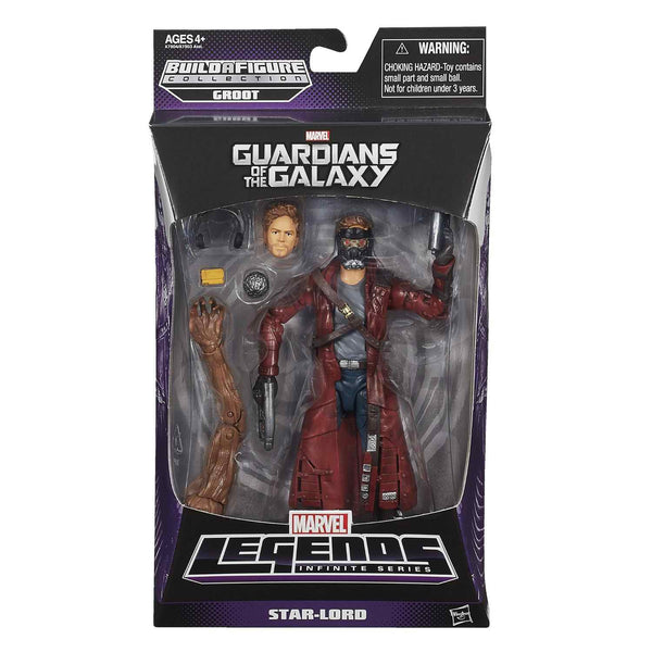 Star-Lord Guardians Of The Galaxy Marvel Legends 6-Inch Action Figure Groot Build-A-Figure Wave