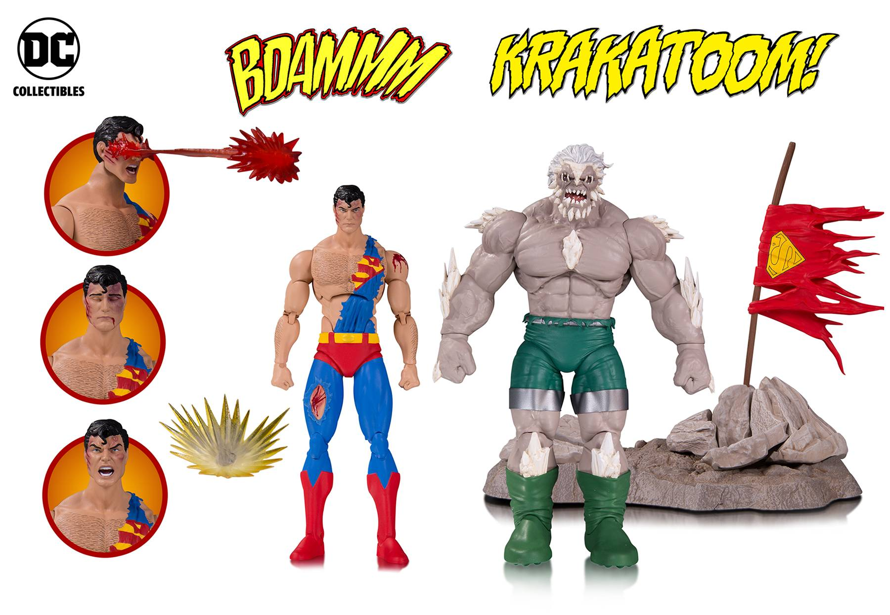 Superman vs Doomsday DC Comics Icons Deluxe Action Figure 2-Pack