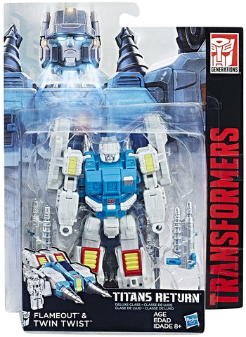 Twin Twist & Flameout Transformers Generations Titans Return Deluxe Class