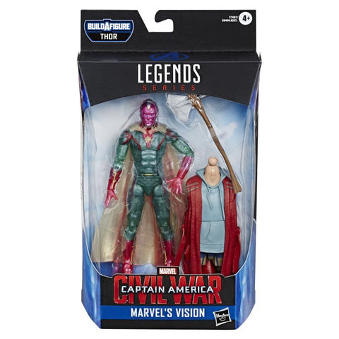 Vision Avengers Endgame Marvel Legends 6-Inch Action Figure Dude Thor Build-A-Figure Wave
