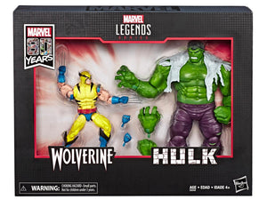 Wolverine and Hulk Marvel Legends 80th Anniversary 6-Inch Action Figure 2-Pack