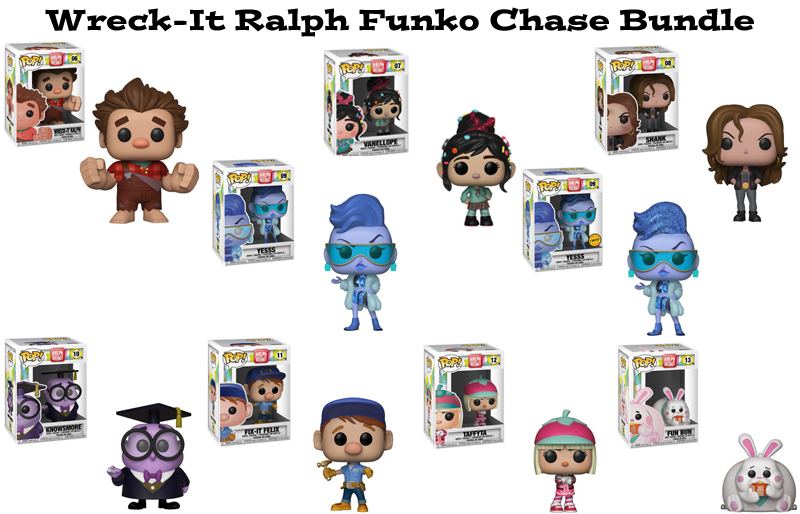 Wreck-It Ralph 2 Ralph Breaks the Internet Funko Pop Chase Bundle