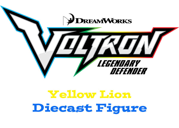 Yellow Lion Voltron The Legendary Defender Diecast Figure