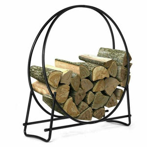 New 40 inch Firewood Storage Log Hoop Rack Holder For Fireplace- Fall Gift