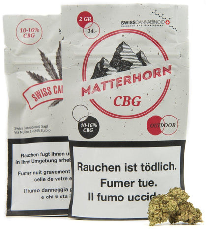 MATTERHORN 10-16% CBG-RICH FLOWERS BY SWISS CANNABINOID Flowers Medical Cannabis Switzerland