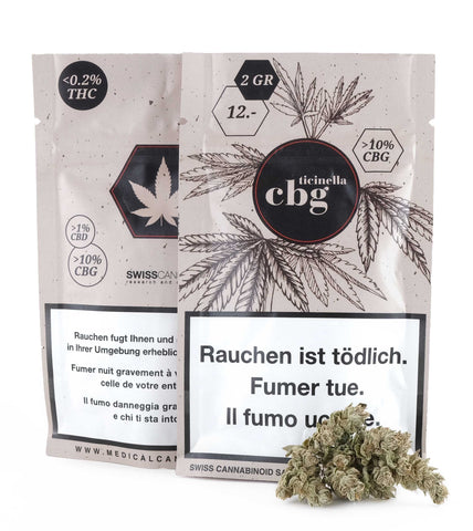 TICINELLA 10% CBG-RICH FLOWERS Flowers Medical Cannabis Switzerland