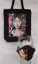 Load image into Gallery viewer, Agsam x k.Manansala Tote Bag with detachable Agsam Fern Earrings