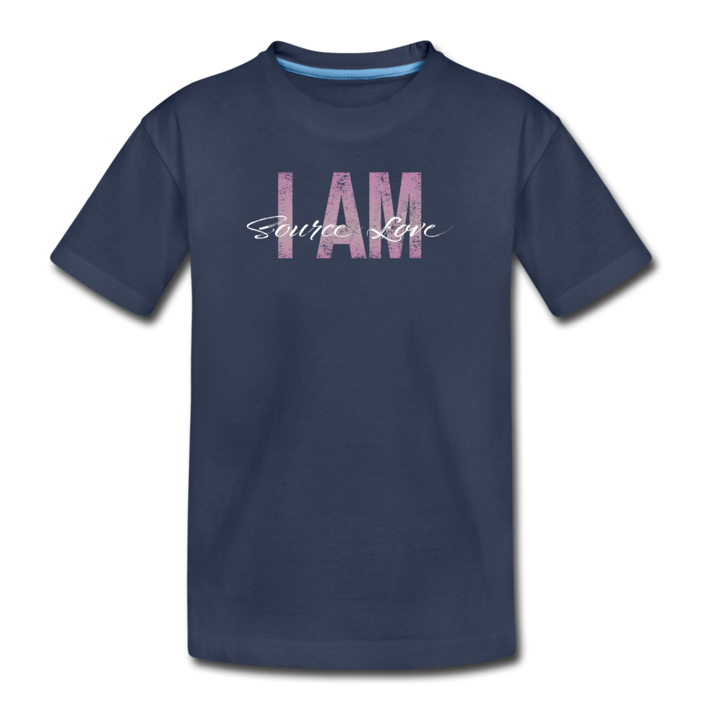 I AM Source Love Vintage Kids' Premium T-Shirt - navy