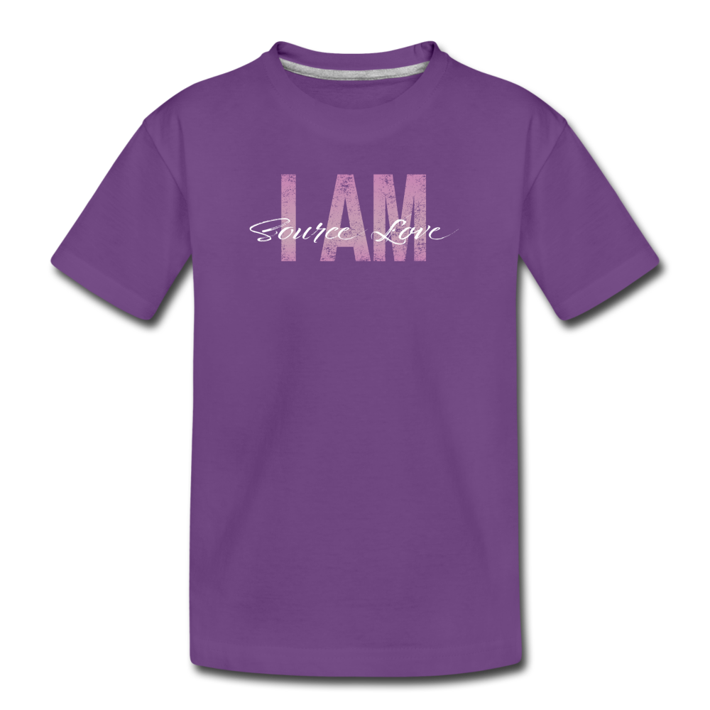 I AM Source Love Vintage Kids' Premium T-Shirt - purple