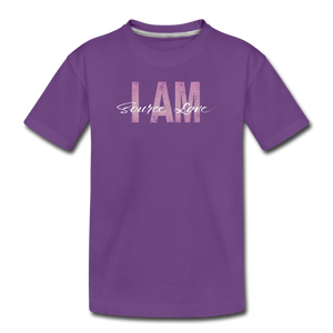 Open image in slideshow, I AM Source Love Vintage Kids' Premium T-Shirt - purple