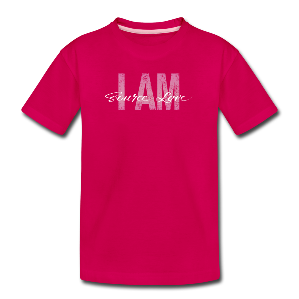 I AM Source Love Vintage Kids' Premium T-Shirt - dark pink
