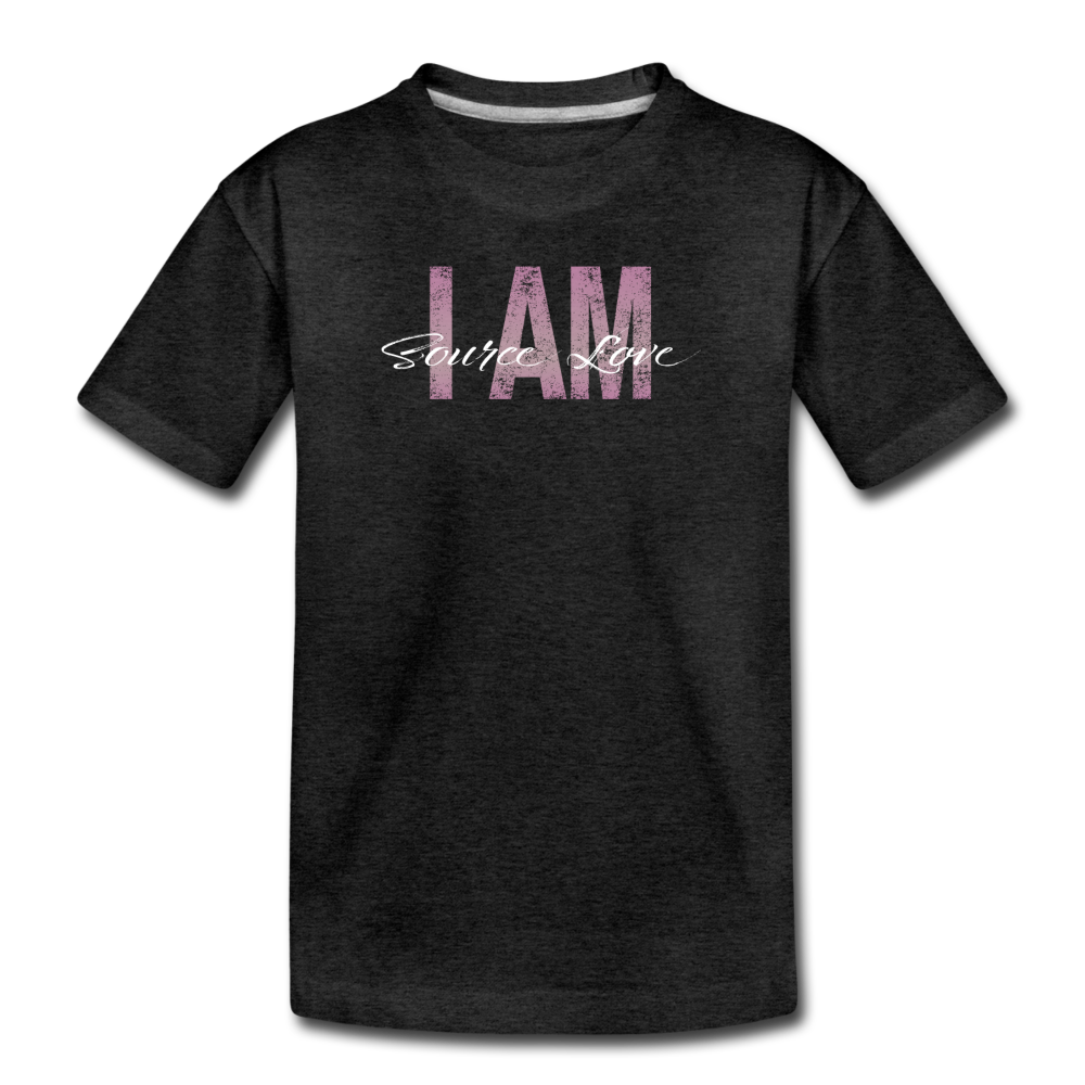 I AM Source Love Vintage Kids' Premium T-Shirt - charcoal gray