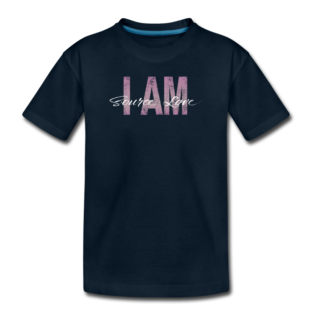I AM Source Love Vintage Kids' Premium T-Shirt - deep navy