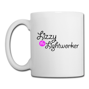 Open image in slideshow, Lizzy The Lightworker Coffee/Tea Mug - white