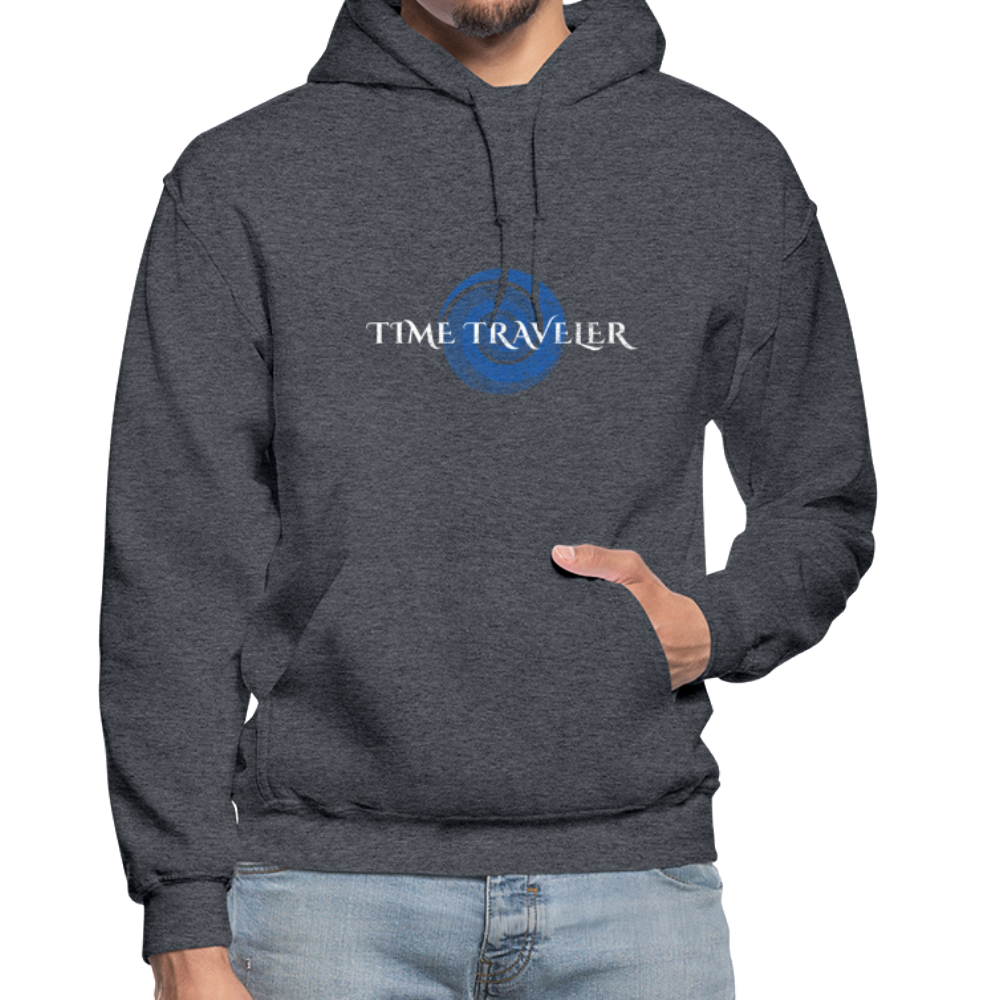 Time Traveler Gildan Heavy Blend Adult Hoodie - charcoal gray