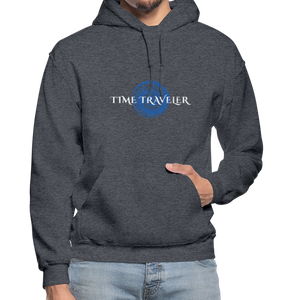 Open image in slideshow, Time Traveler Gildan Heavy Blend Adult Hoodie - charcoal gray