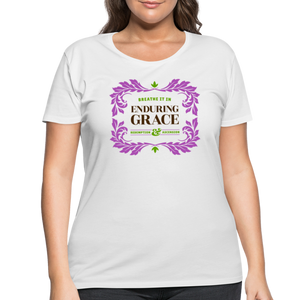Enduring Grace Women's Curvy T-Shirt - white