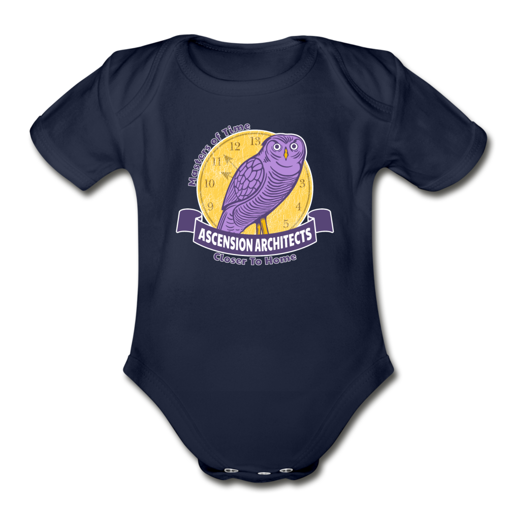 Ascension Architects Organic Short Sleeve Baby Bodysuit - dark navy