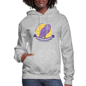 Open image in slideshow, Ascension Architects Women's Hoodie - heather gray