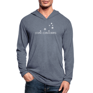Cosmic Consciousness Unisex Tri-Blend Hoodie Shirt - heather blue
