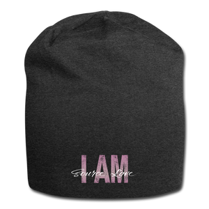 I AM Source Love Vintage Jersey Beanie - charcoal gray