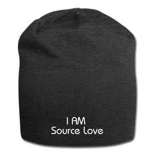 I AM Source Love Jersey Beanie - charcoal gray