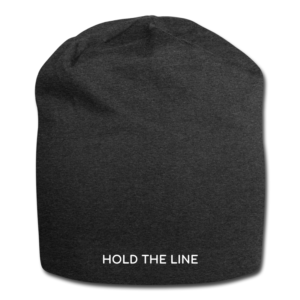 Hold The Line Jersey Beanie - charcoal gray
