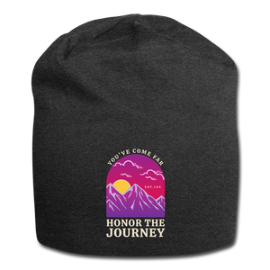 Honor The Journey Jersey Beanie - charcoal gray