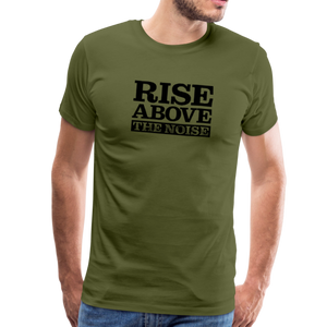 Open image in slideshow, Rise Above The Noise BLK Men's Premium T-Shirt - olive green