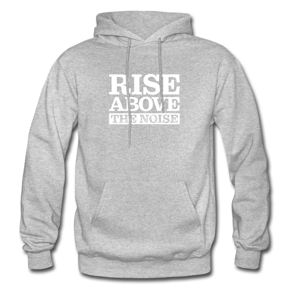 Rise Above The Noise Gildan Heavy Blend Men's Hoodie - heather gray