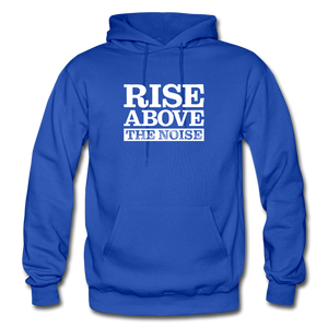 Open image in slideshow, Rise Above The Noise Gildan Heavy Blend Men's Hoodie - royal blue