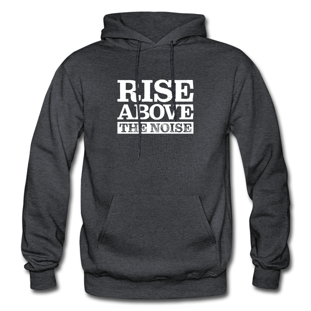 Rise Above The Noise Gildan Heavy Blend Men's Hoodie - charcoal gray