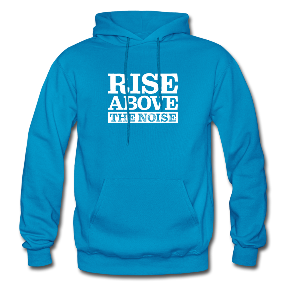 Rise Above The Noise Gildan Heavy Blend Men's Hoodie - turquoise