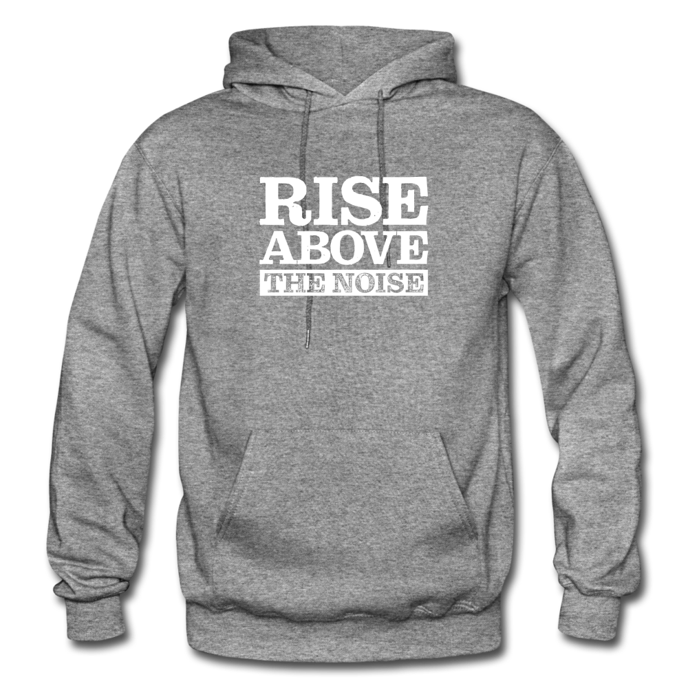 Rise Above The Noise Gildan Heavy Blend Men's Hoodie - graphite heather